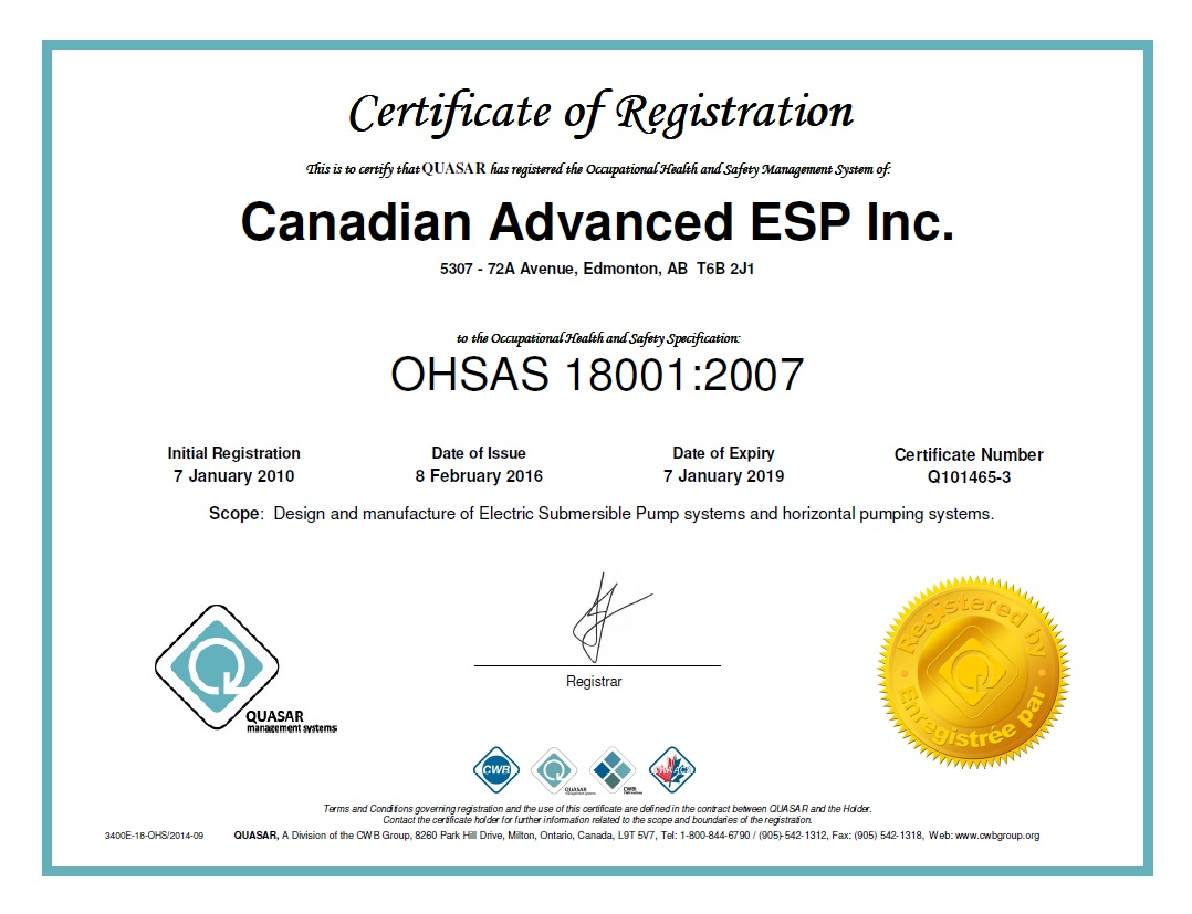 Certifications canadian advanced esp inc as a member of this registry it aids canadian advanced in attaining its goals for health and safety and to work with clients to continually improve safety 1betcityfo Gallery